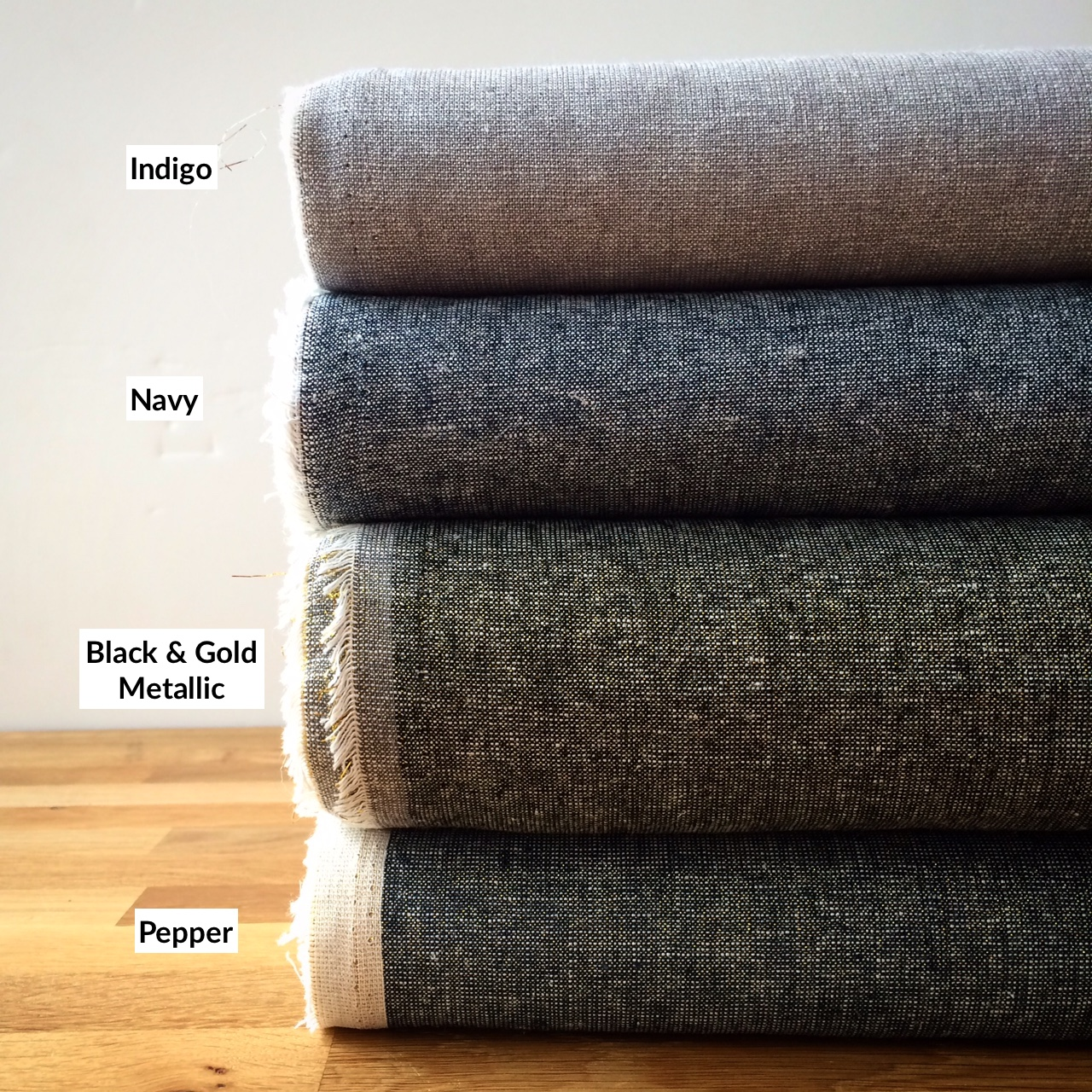 Yarn Dyed Linen Fabric Colors