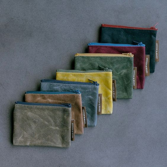 Small Waxed Canvas Pouch by Shop Stitch and Rivet