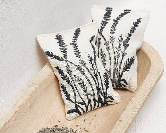 Block Printed Lavender Sachet by Julia Canright