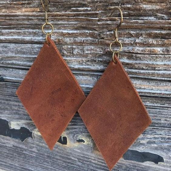 Leather Earrings by Cedar Leather Customs