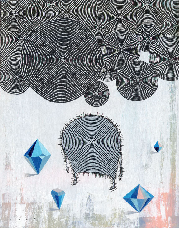 "Diamond Core #2 (Death) | 11"" x 14"" 