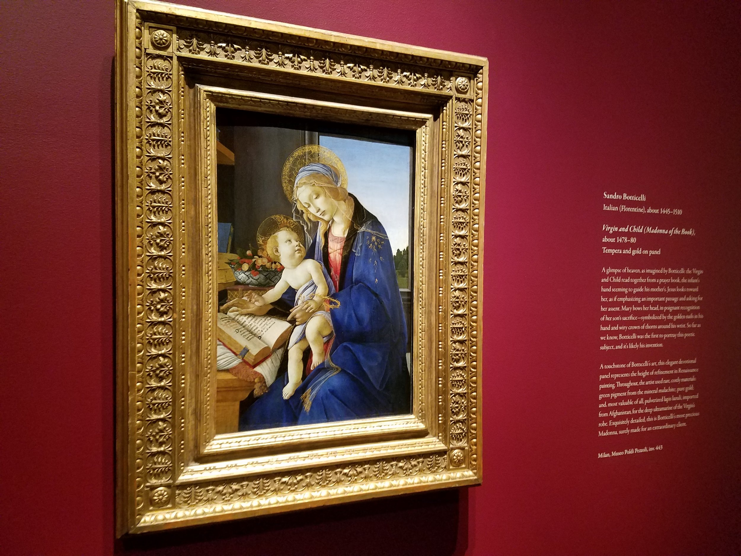 Botticelli - Virgin and Child (Madonna of the Book) 1478-80