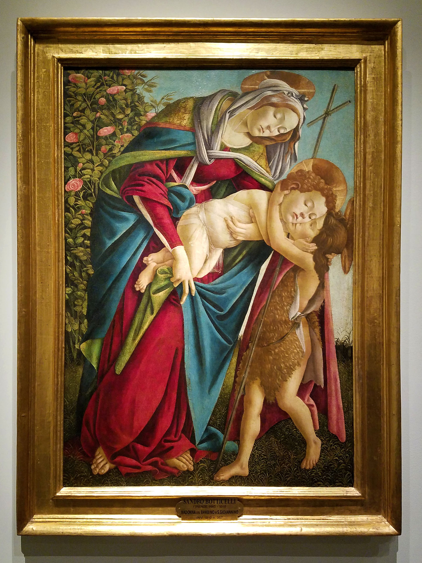 Botticelli - Virgin and Child with the Young Saint John the Baptist, 1505