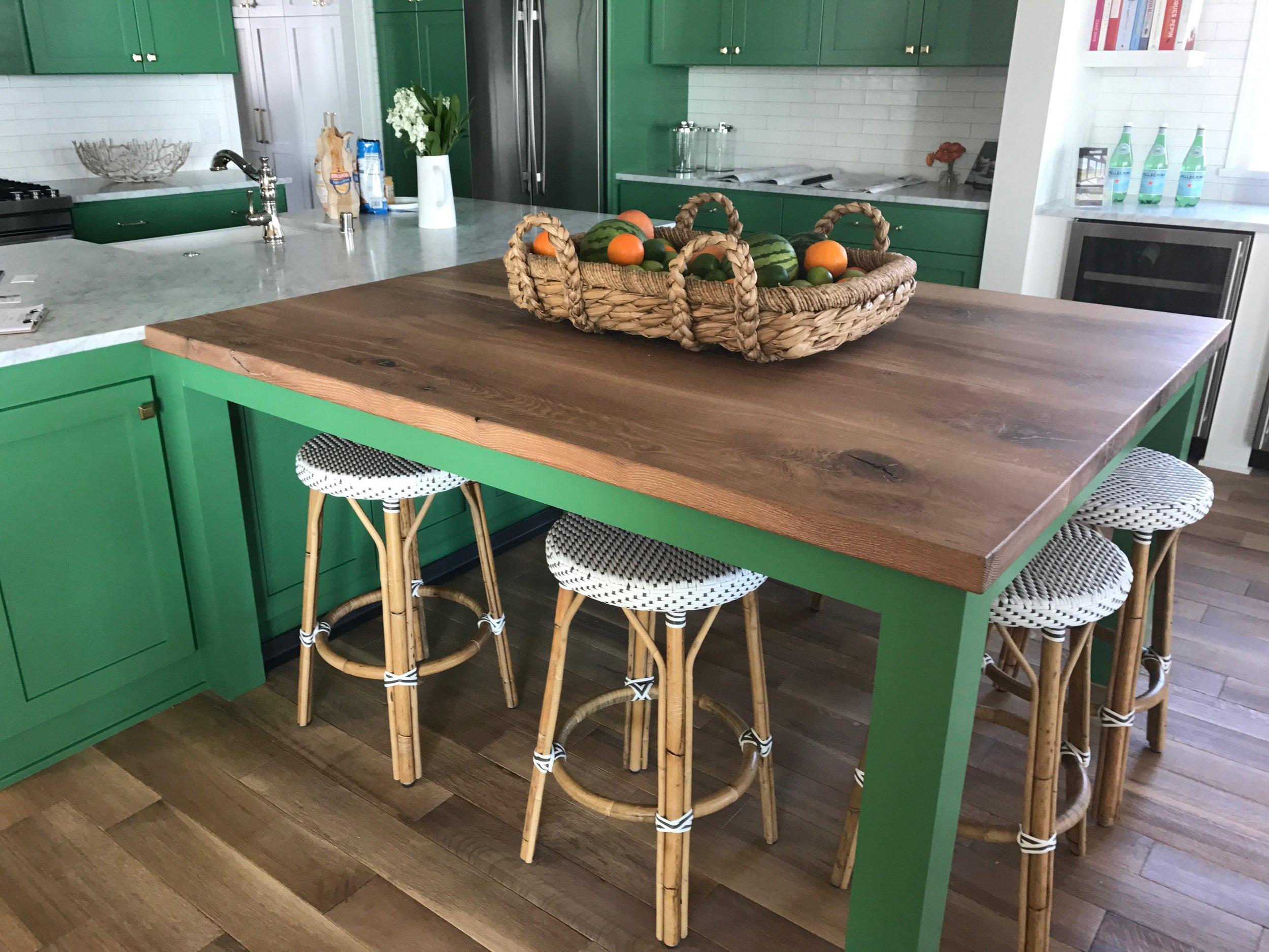 Wide Slab White Oak Farm Table