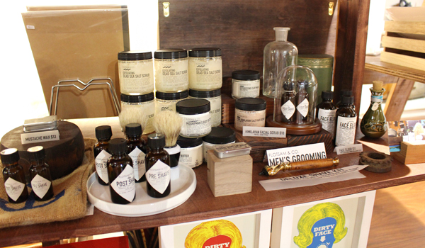 Our apothecary products including men's grooming featured at Mori Hawaii.