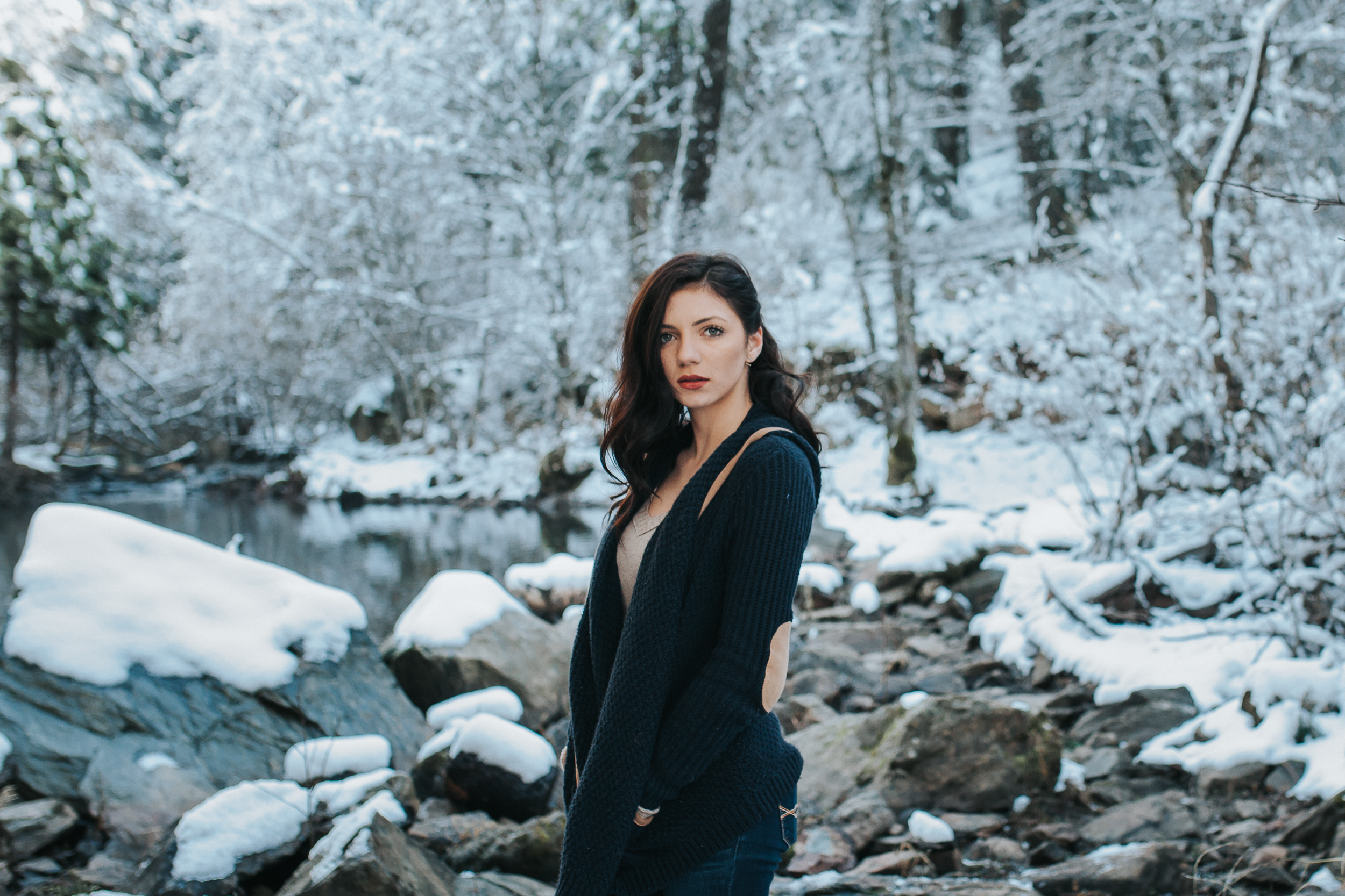 Snowy mountain portraits