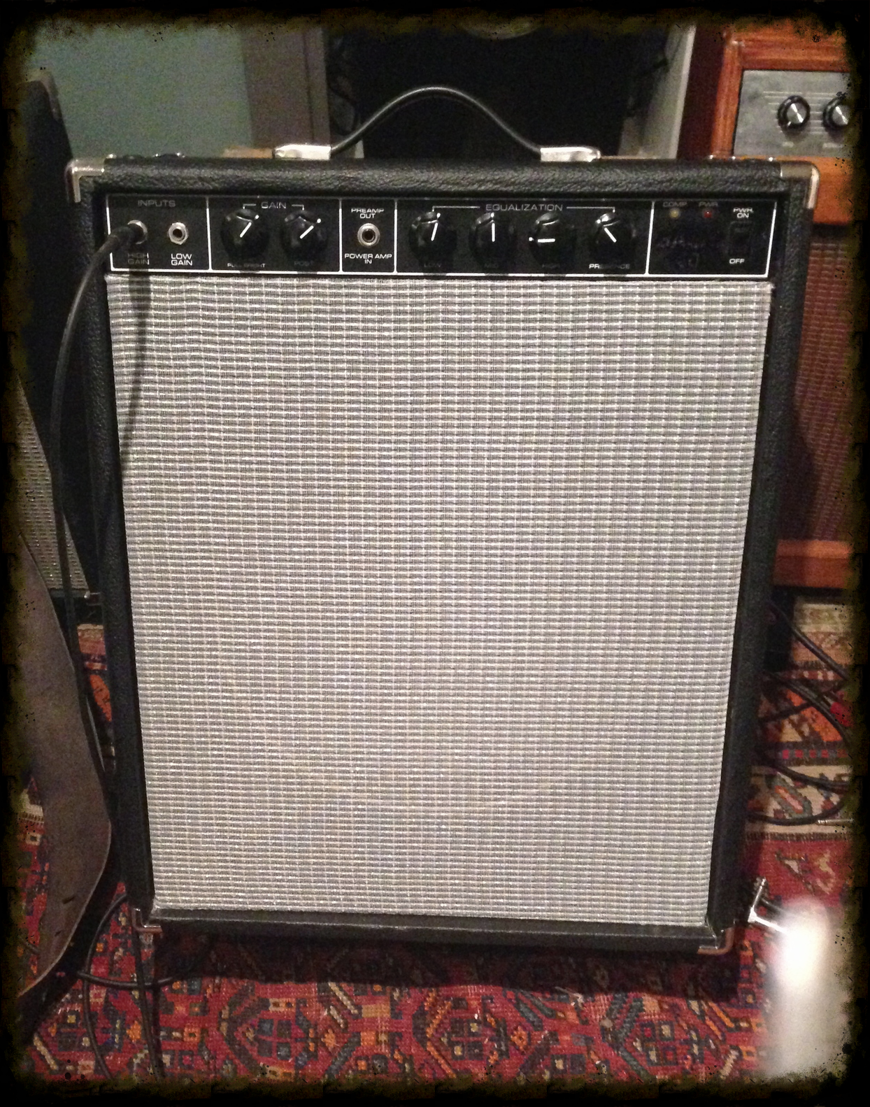 "MOD amp.  40 watts.  1 x 15"" vintage Eminence 100 watt Speaker. Sparkling cleans, nice overdrive. Great for guitar, Bass and Keys. $300."