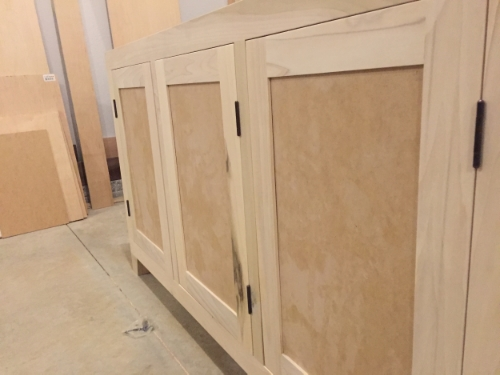 Close up of the shaker doors.