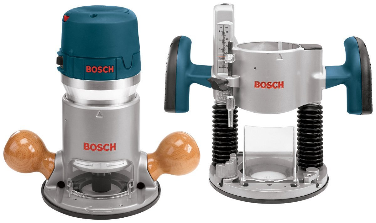 Bosch Router Kit with Plunge and Fixed Base 1617EVSPK