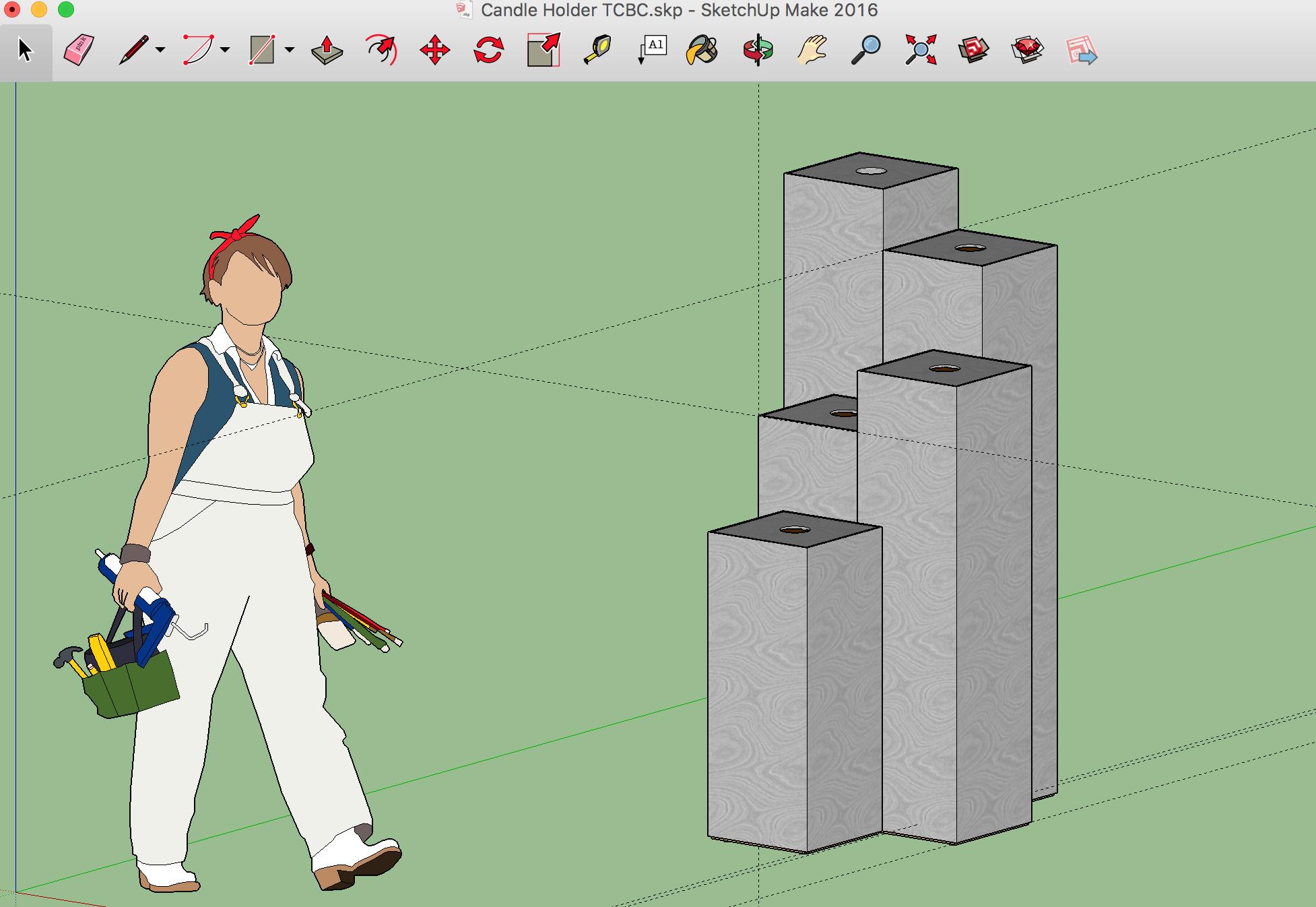 Google SketchUp Model of the Advent Calendar Pedestals by Josh Rucinski