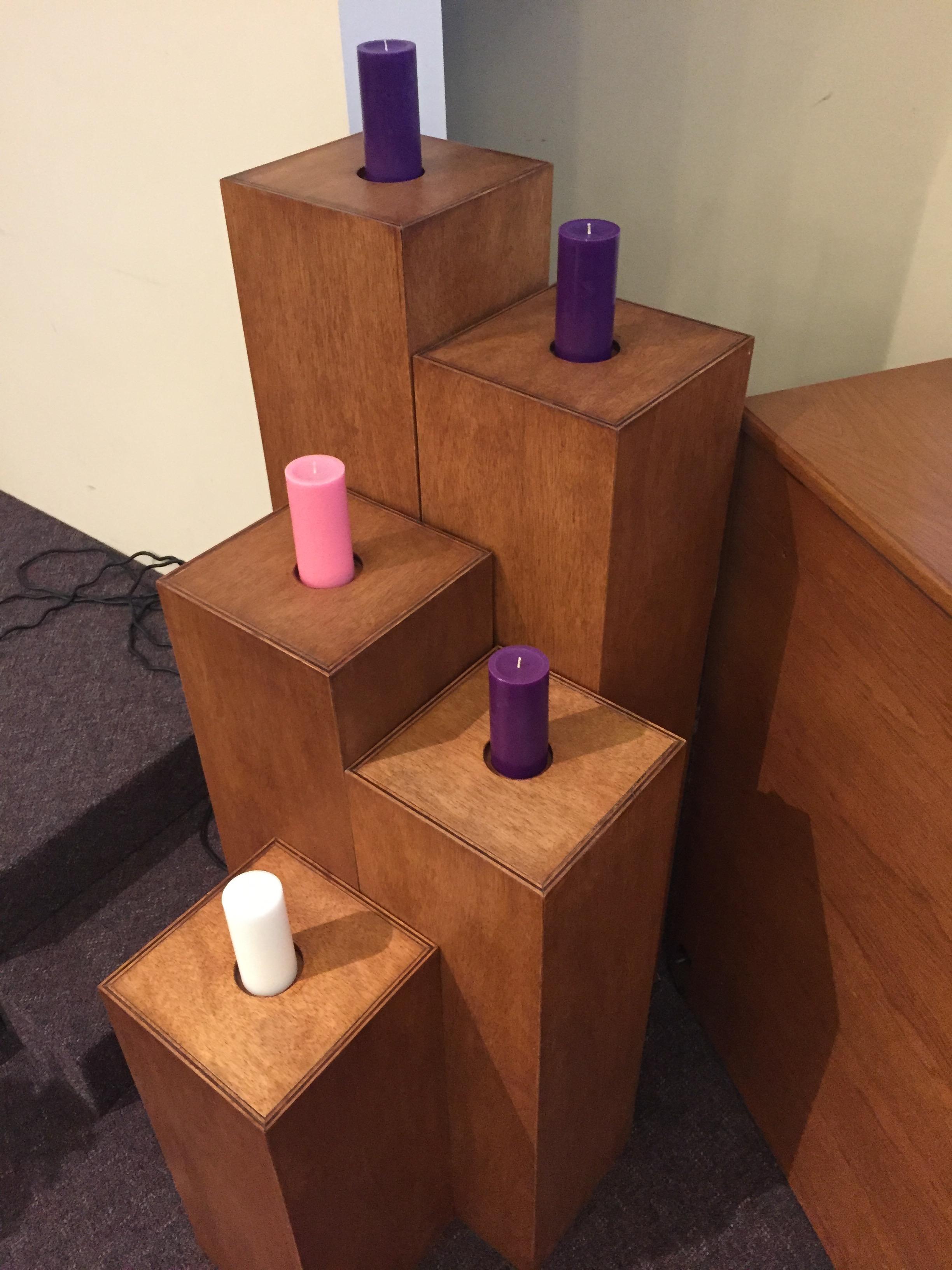 Advent Candle Pedestals