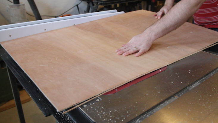 Cutting the Backboard for the Cork and Chalkboard