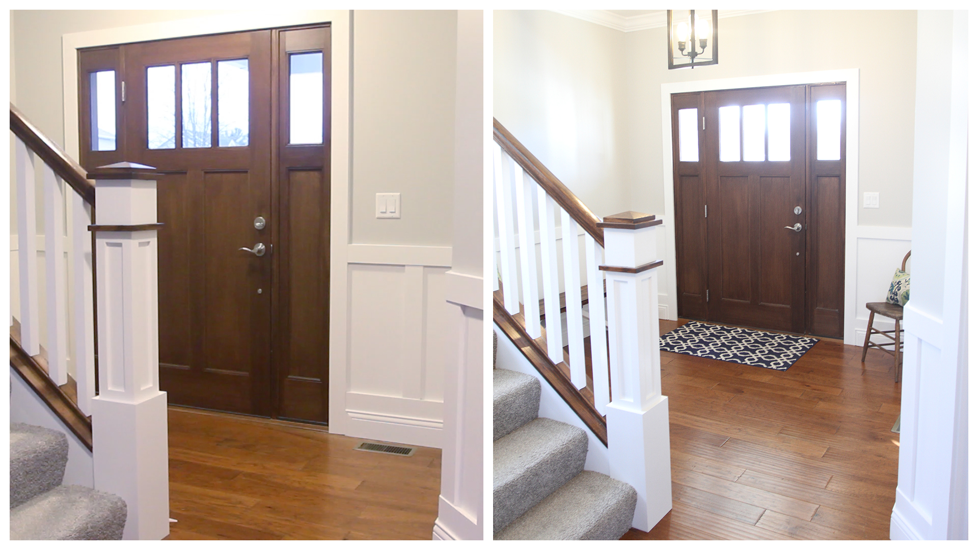 Before & After Front Entryway