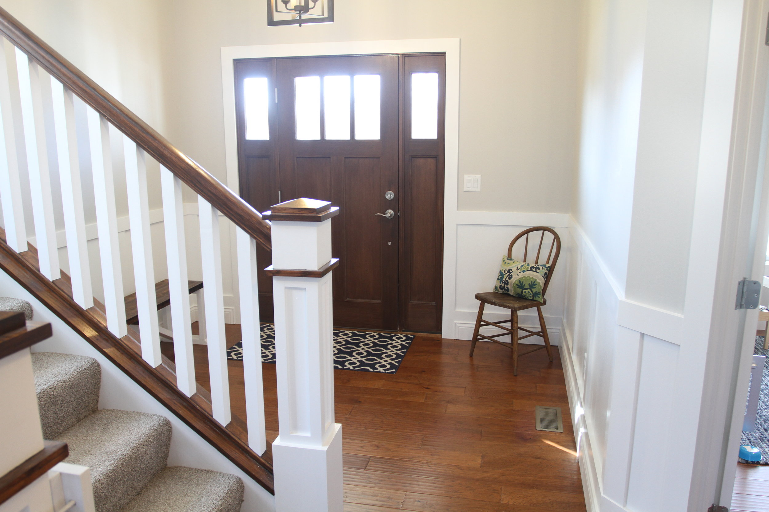 Stairs and open entryway