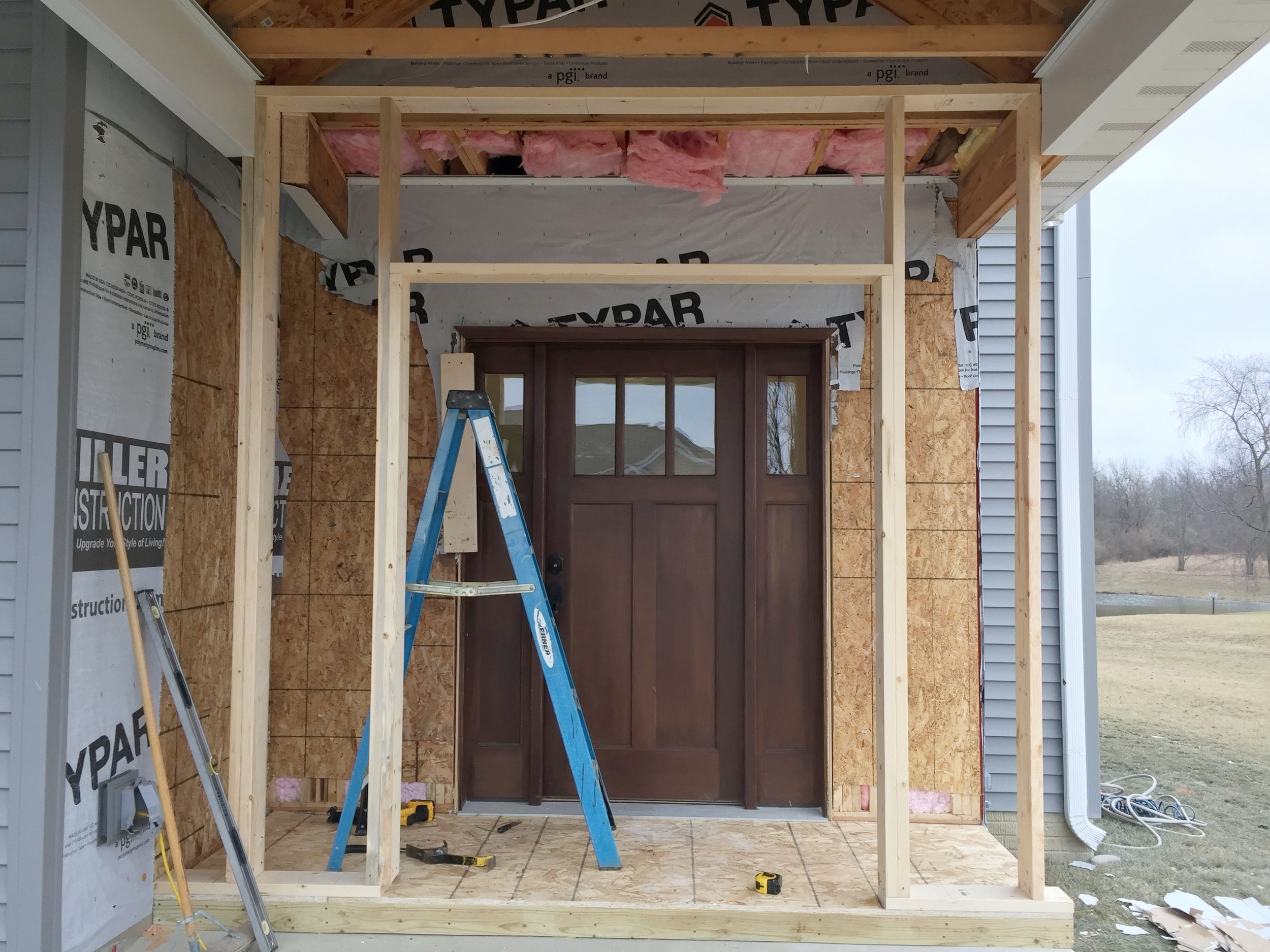 Framing the Front door and entryway