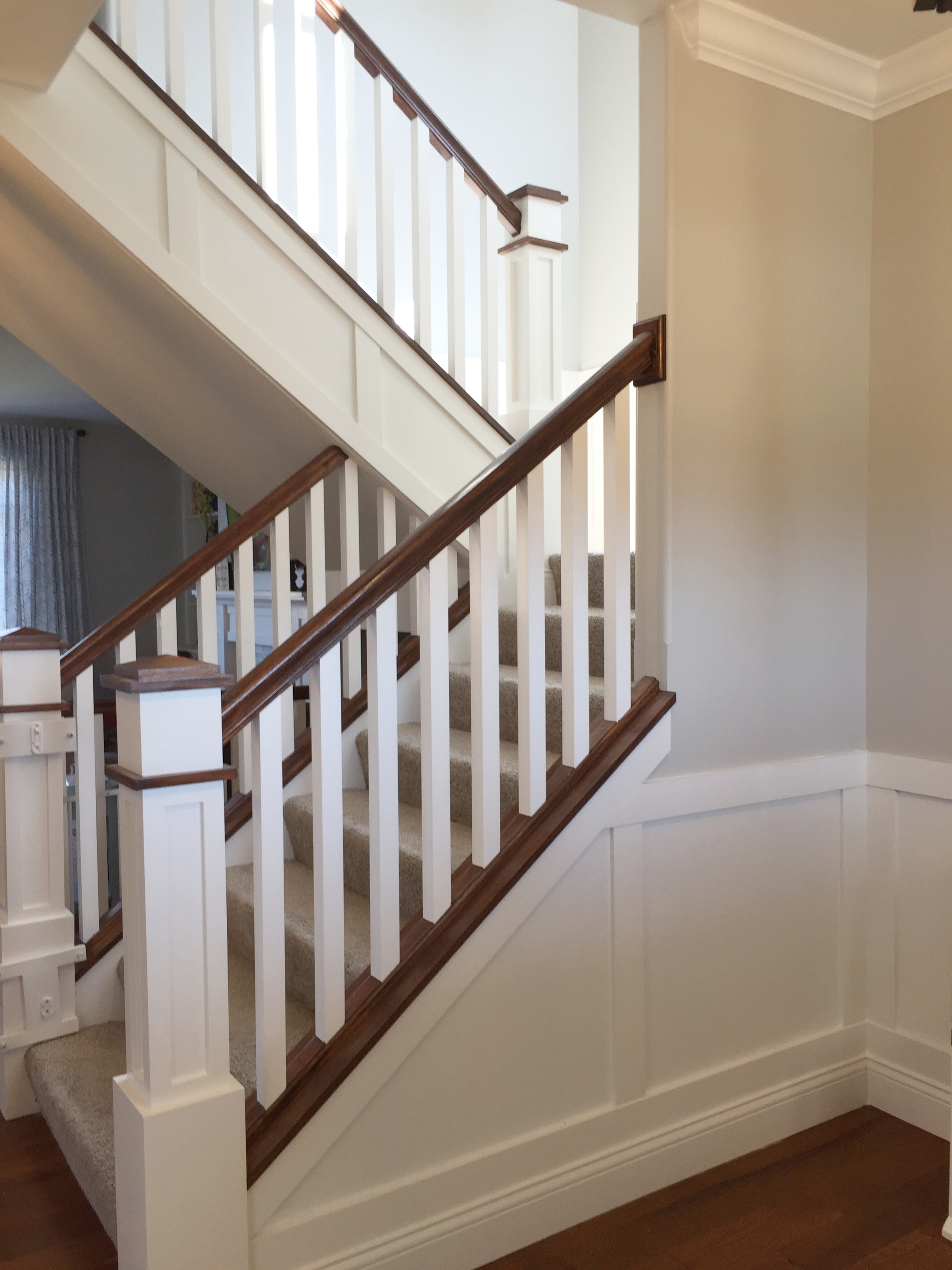 Front Entryway craftsman stairs