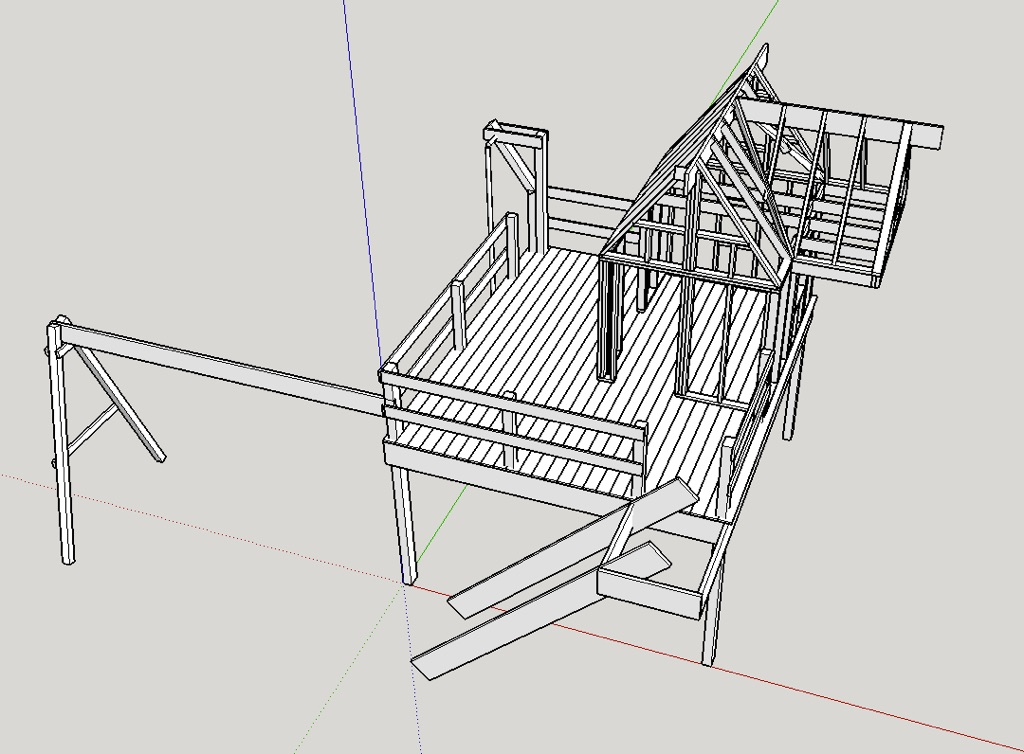 3D SketchUp Plans For the Treehouse