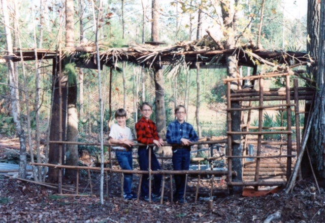 This was one of the largest forts we built. It had a door which opened into the jail.