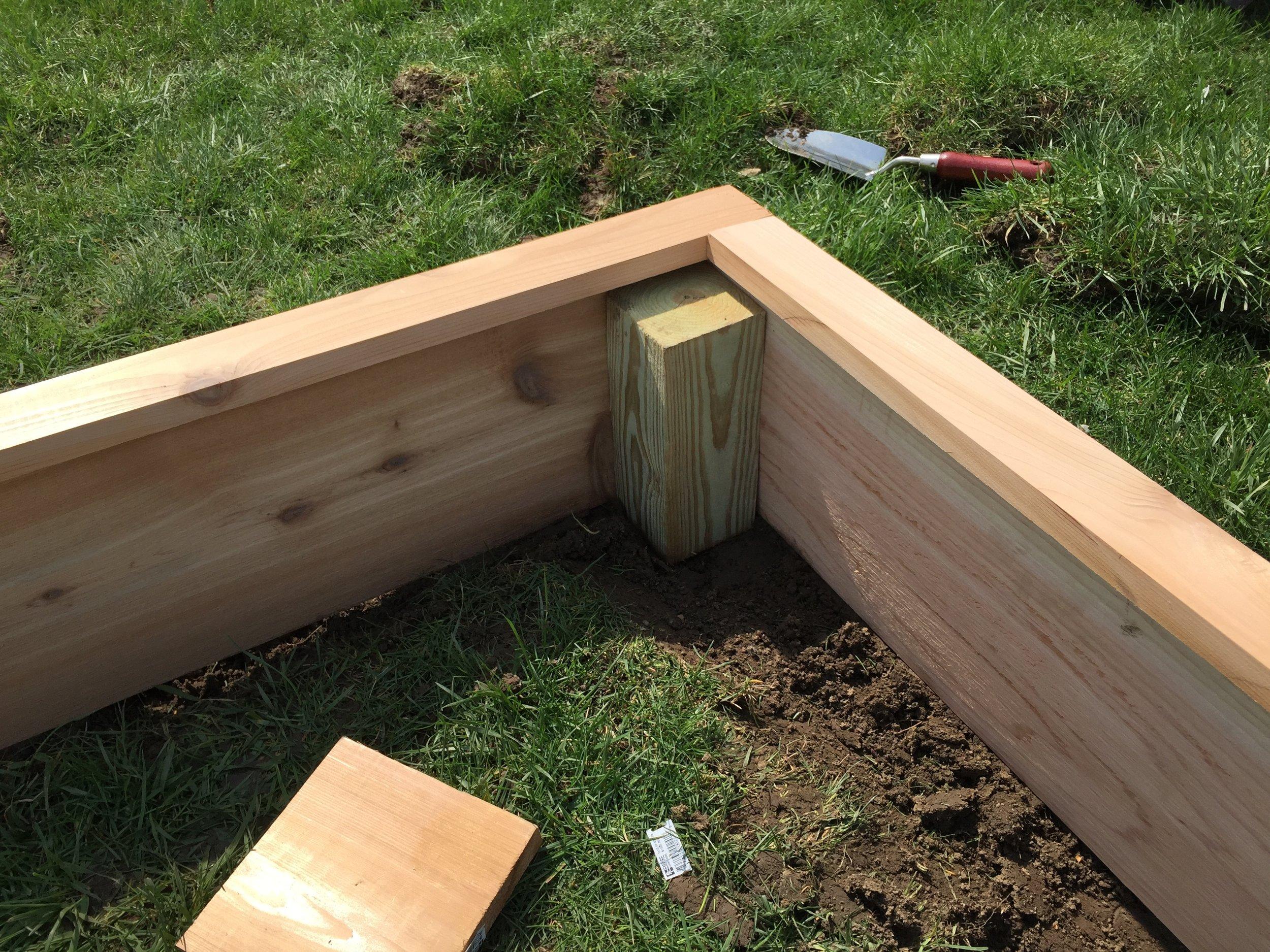 Adding the Cedar Edge to the Garden Box