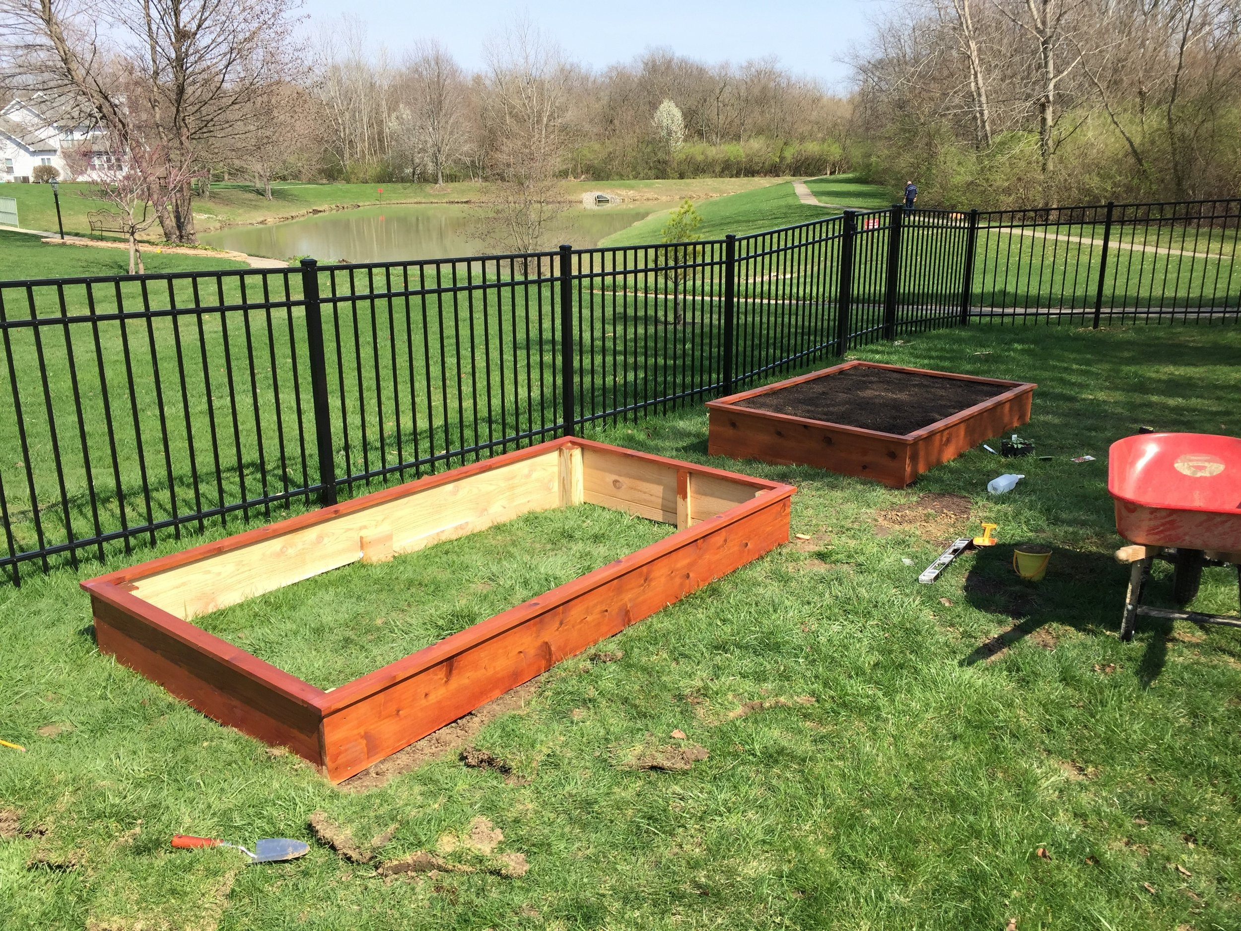 Two Cedar Garden Boxes