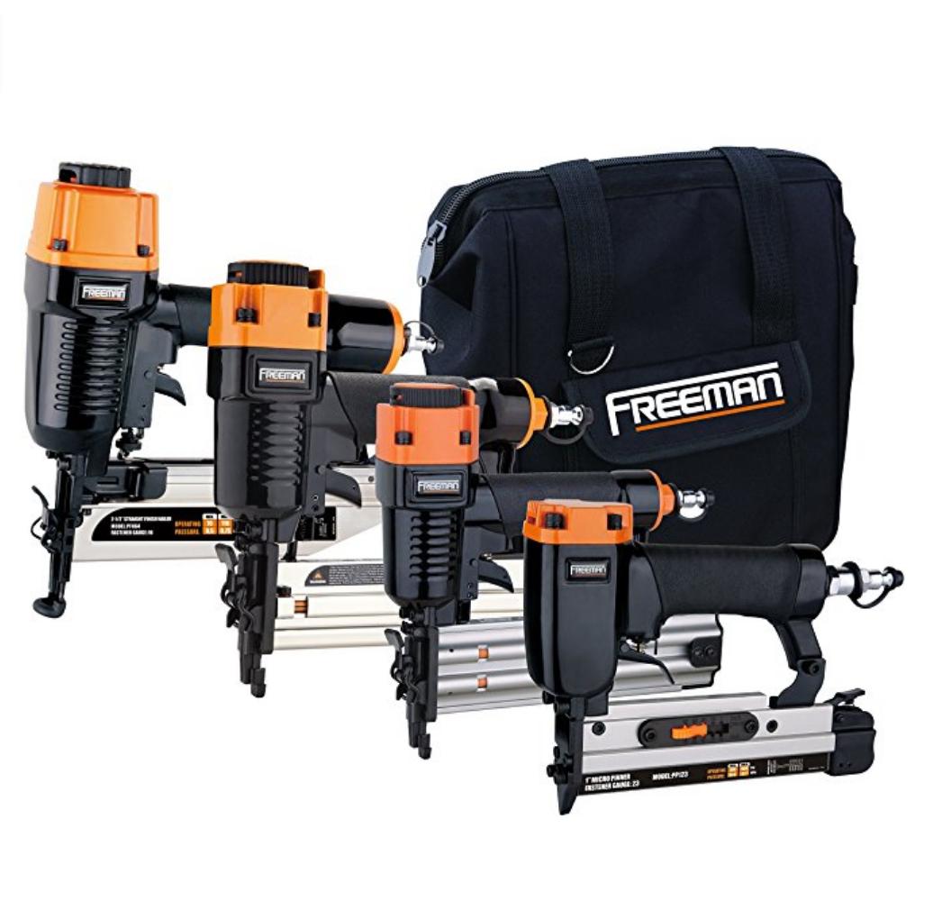 Freeman Pneumatics P4FNCB Nailer Combo Kit with Bag