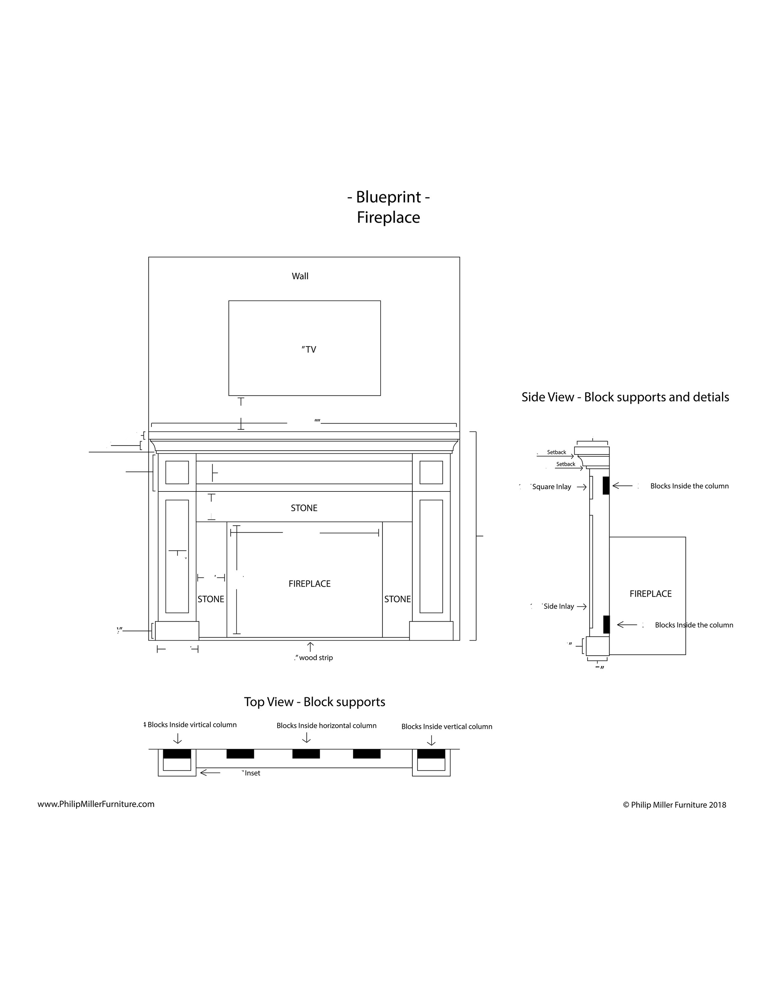 Build Instructions   - Shaker Fireplace Mantel, Cabinets & Shelves    - $20