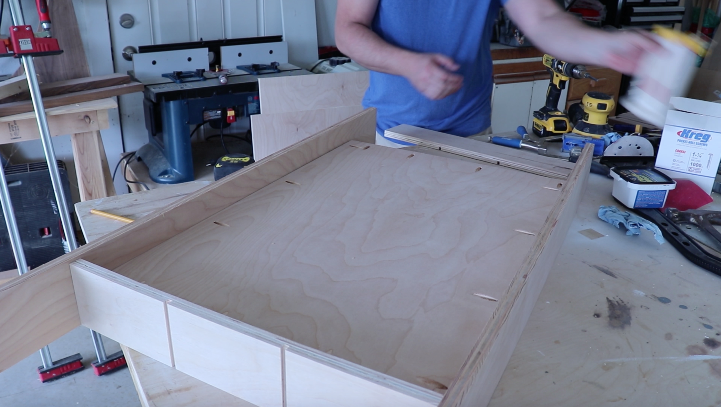 Installing the sides to the Lego table using a Kreg Jig R3 - Philip Miller Furniture - Etsy