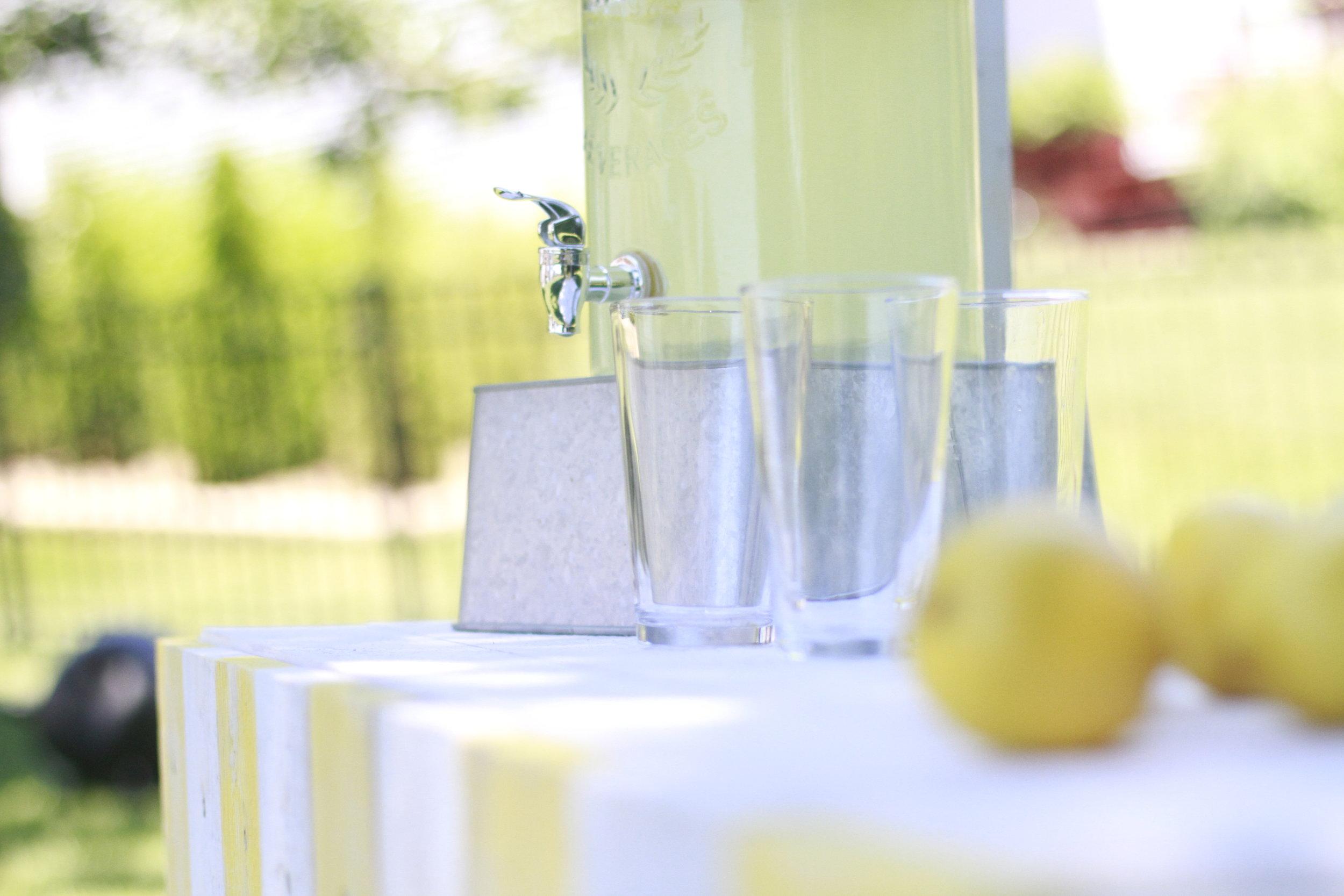 Vintage lemonade glass dispenser