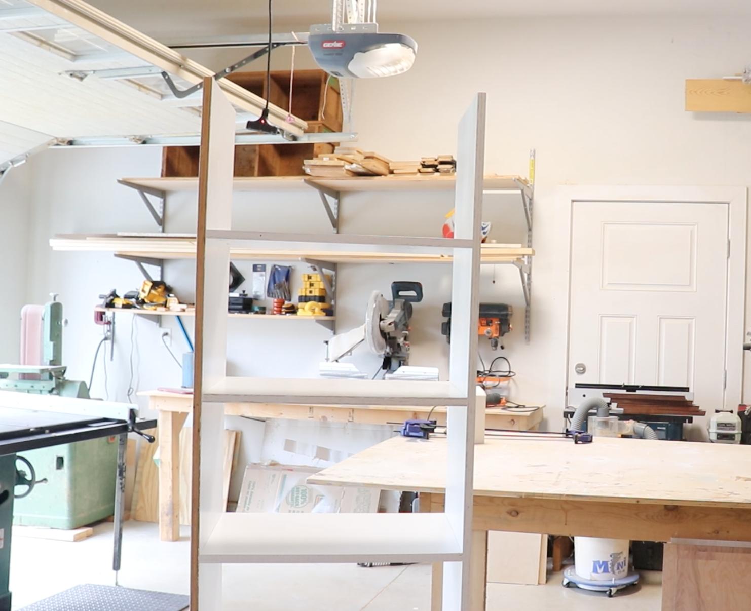 Assembled Custom Closet Shelves using Kreg Jig R3