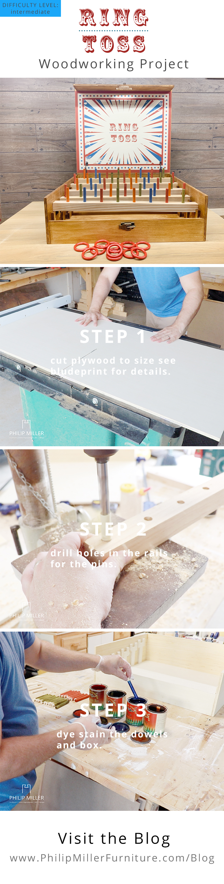 How to Make a Vintage Ring Toss Game | Wood Projects | Plans | DIY | Pinterest Pin