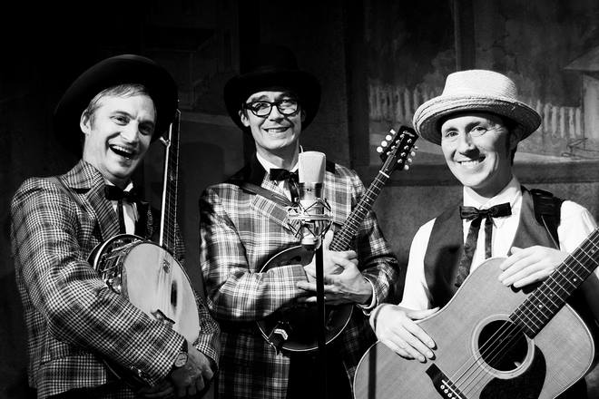 The Half Brothers are a 3 piece alt-bluegrass band consisting of David Nixon (banjo), RIck Miller (guitar), and John Ackermann (mandolin). Click  HERE  to listen to our 4 albums.
