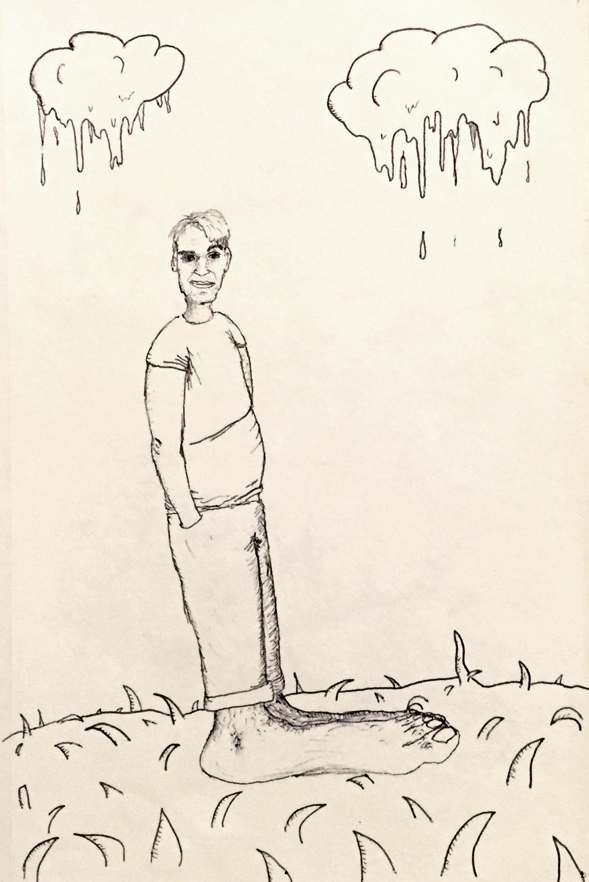 2001 Sketch Self Portrait with big feet.jpg