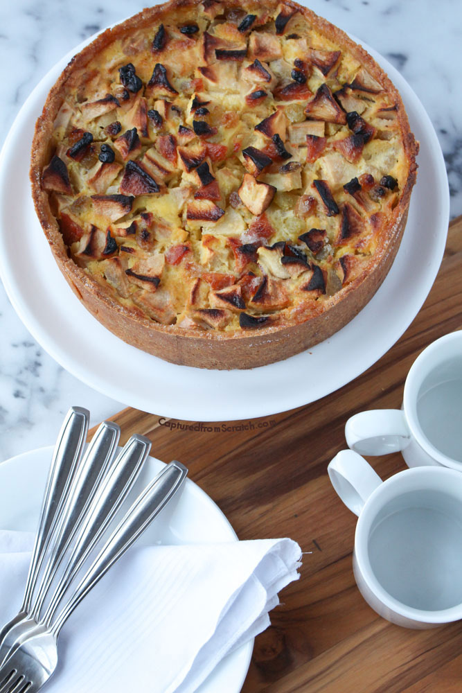 An Apple & Custard Tourte