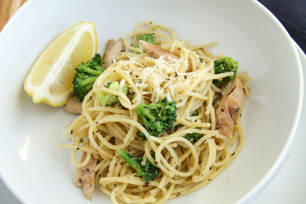 Chicken & Broccoli Pasta with Herb Butter Sauce