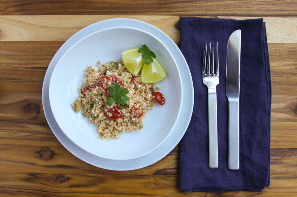 Couscous with Feta, Tomatoes & Olives