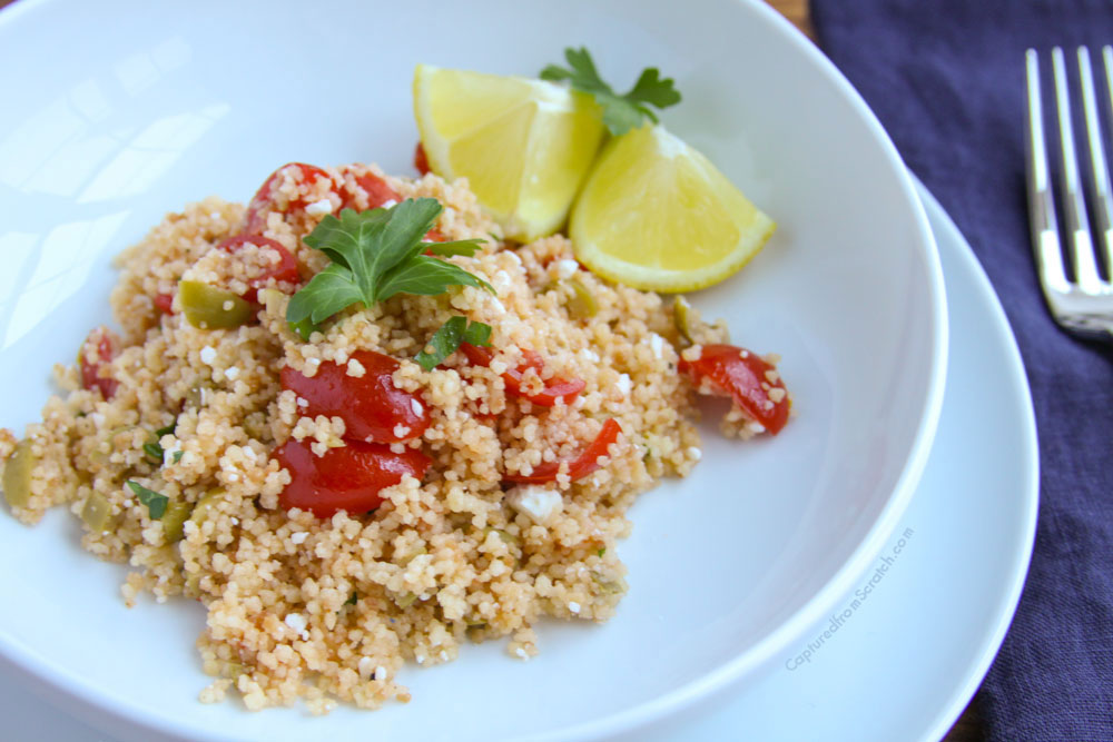 Couscous Feta, Tomatoes & Olives