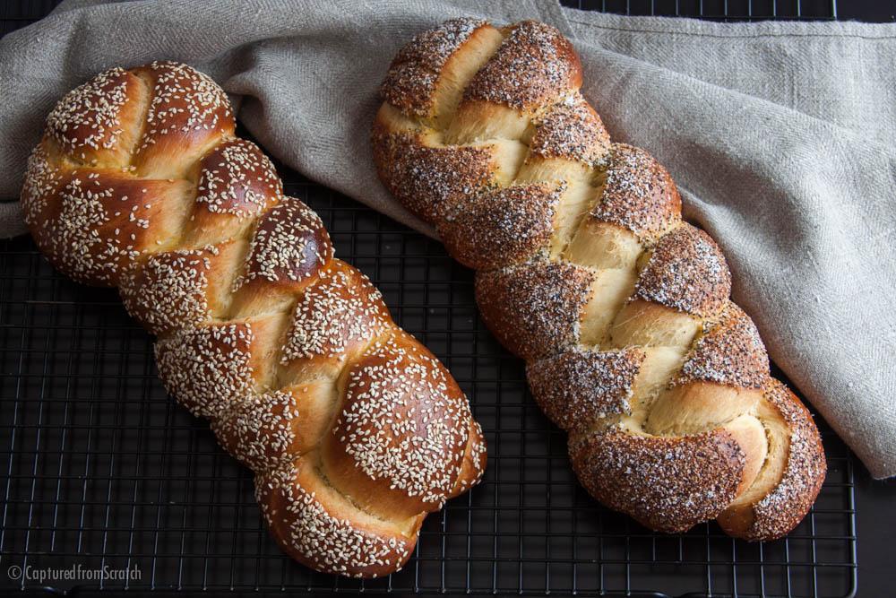 Poppyseed & Garlic Challah Bread