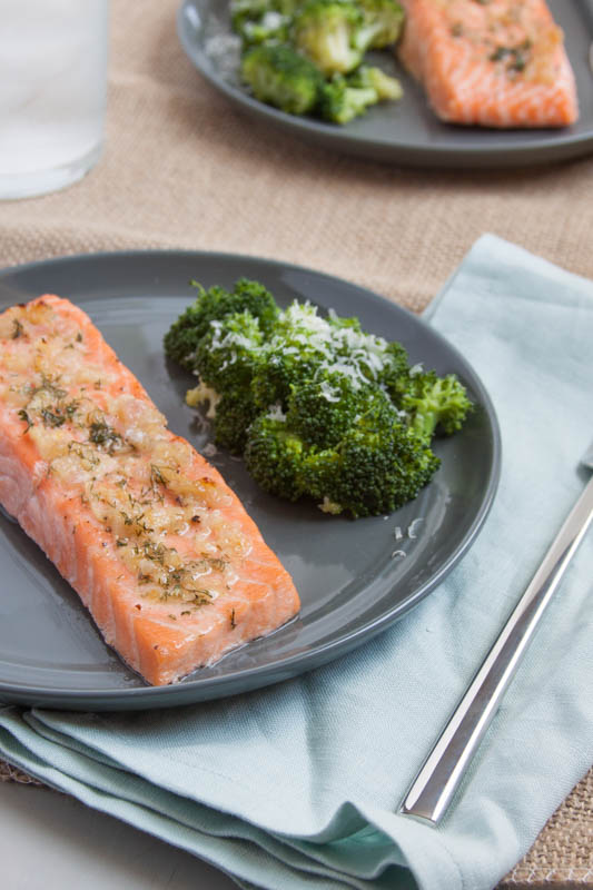 Roasted Salmon in a Lemon Butter Sauce