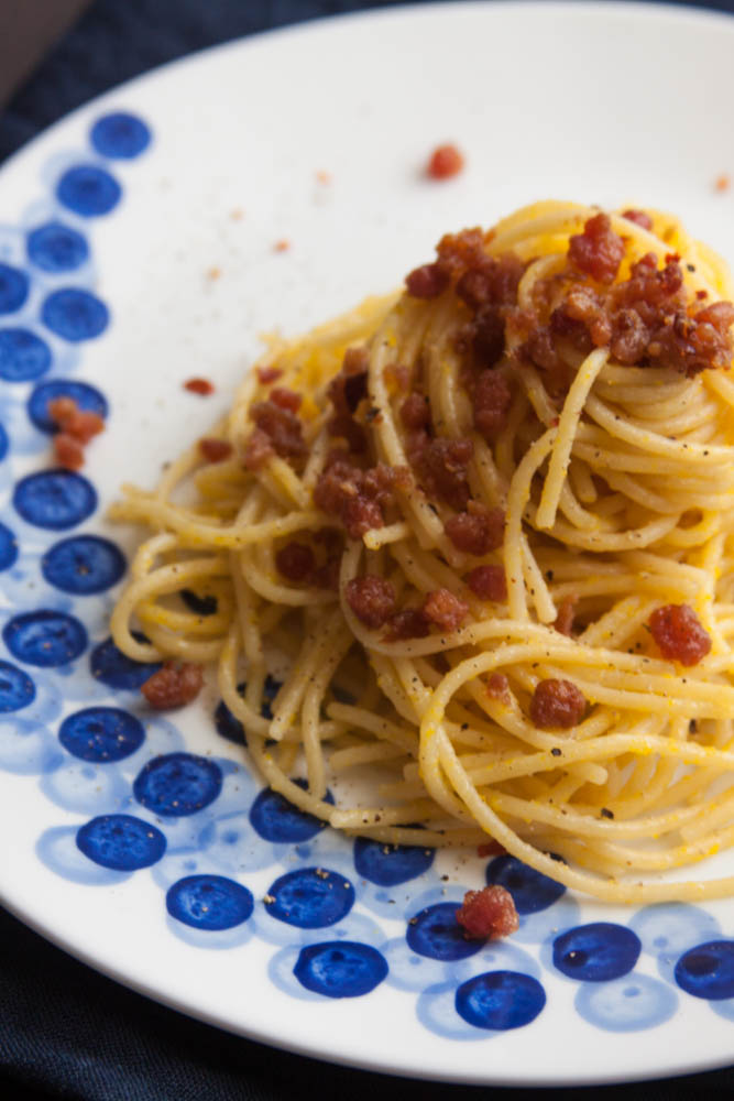 Cacio e Pepe with Bacon