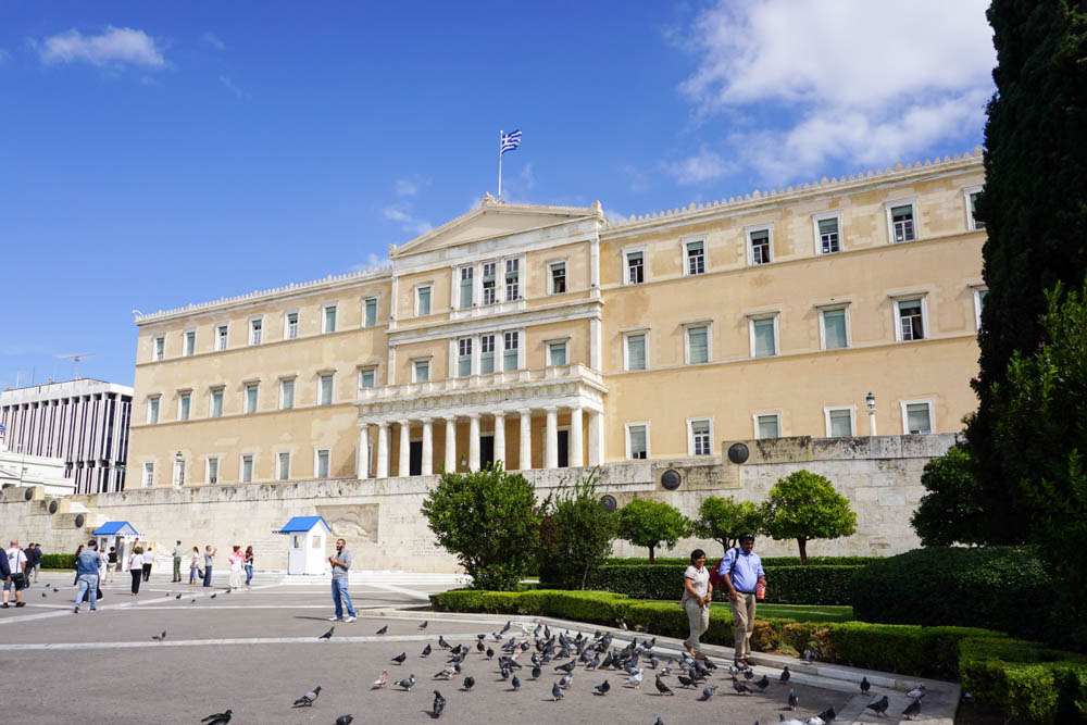 The Greek Parliament building, Athens