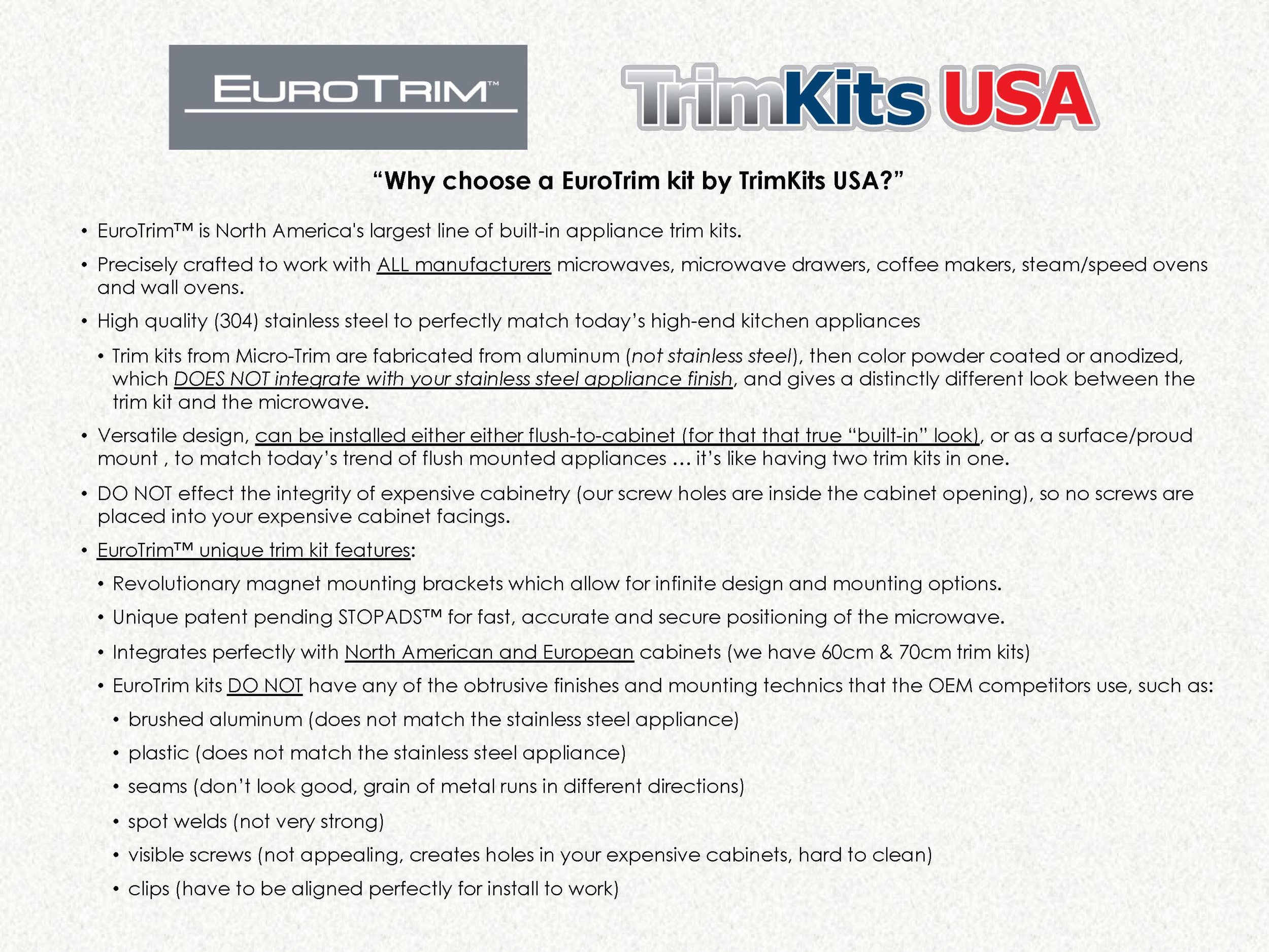 TrimKits USA EuroTrim Sales Presentation -