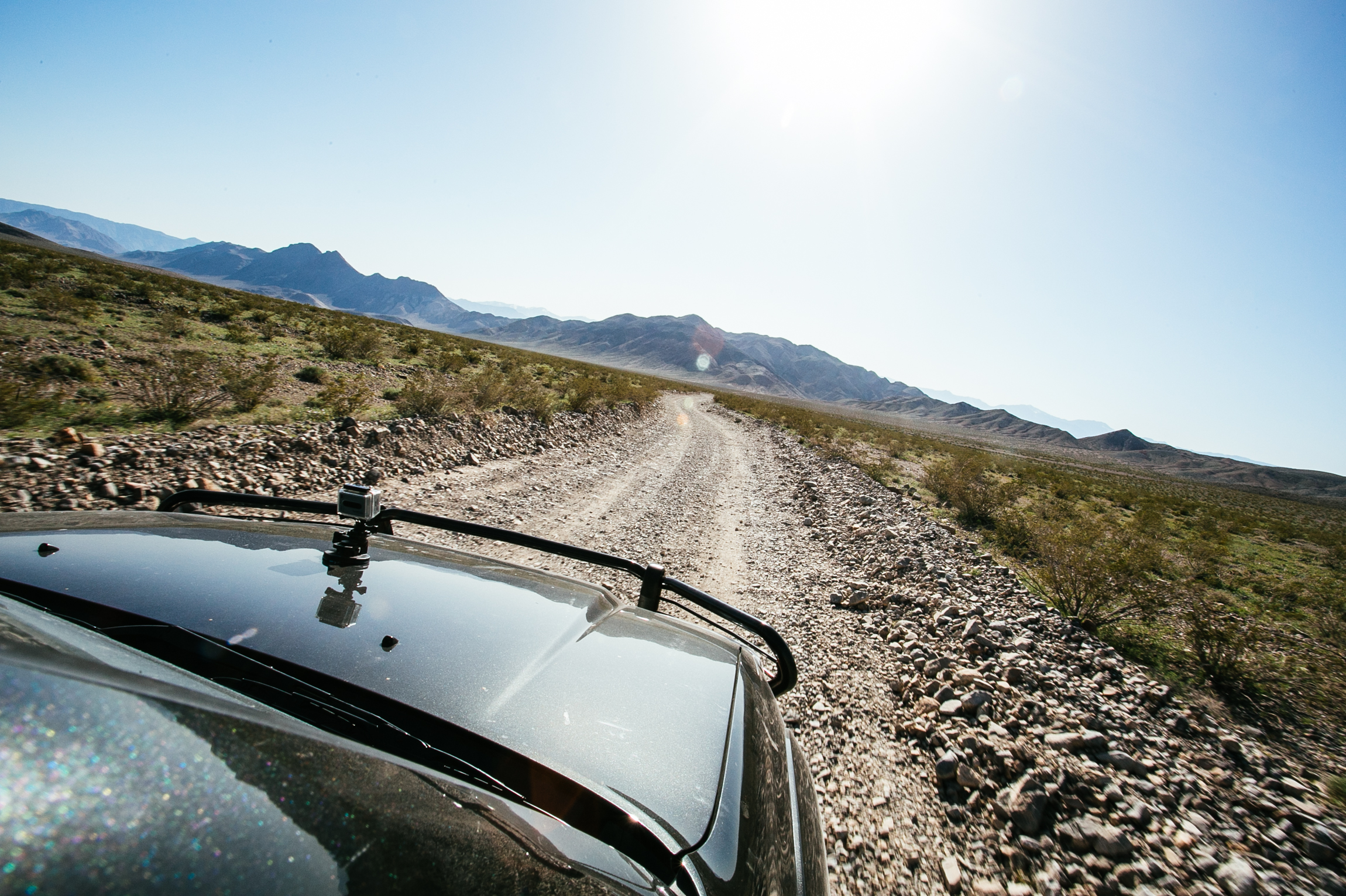 Off road for 28 miles to Racetrack Playa.