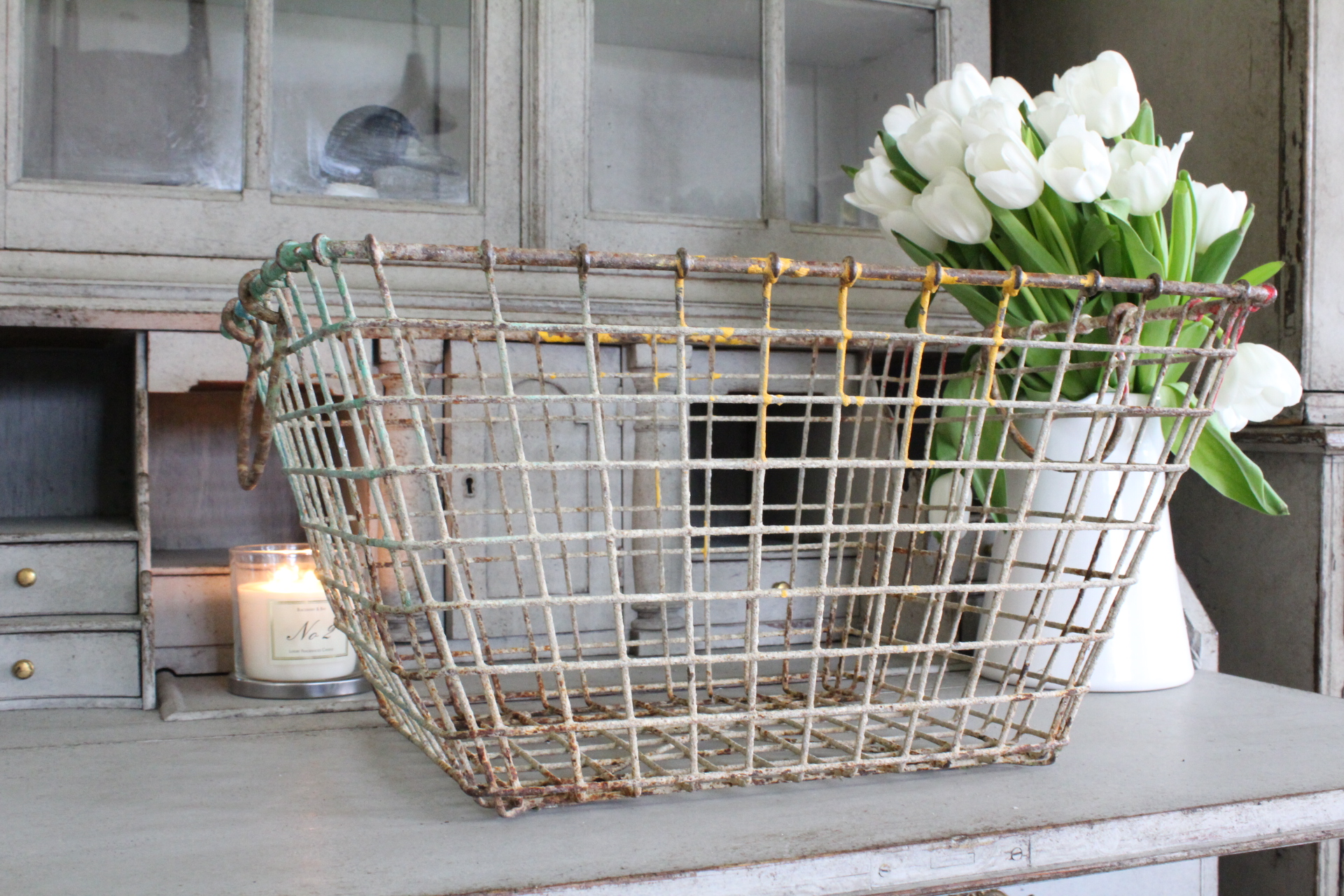 French vintage oyster baskets ( 2 available ) £35 each