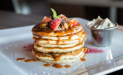 Yes, any excuse for a picture of pancakes...