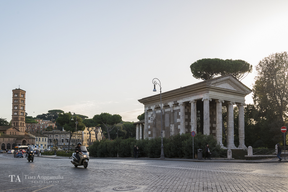 The cityscape of Rome.