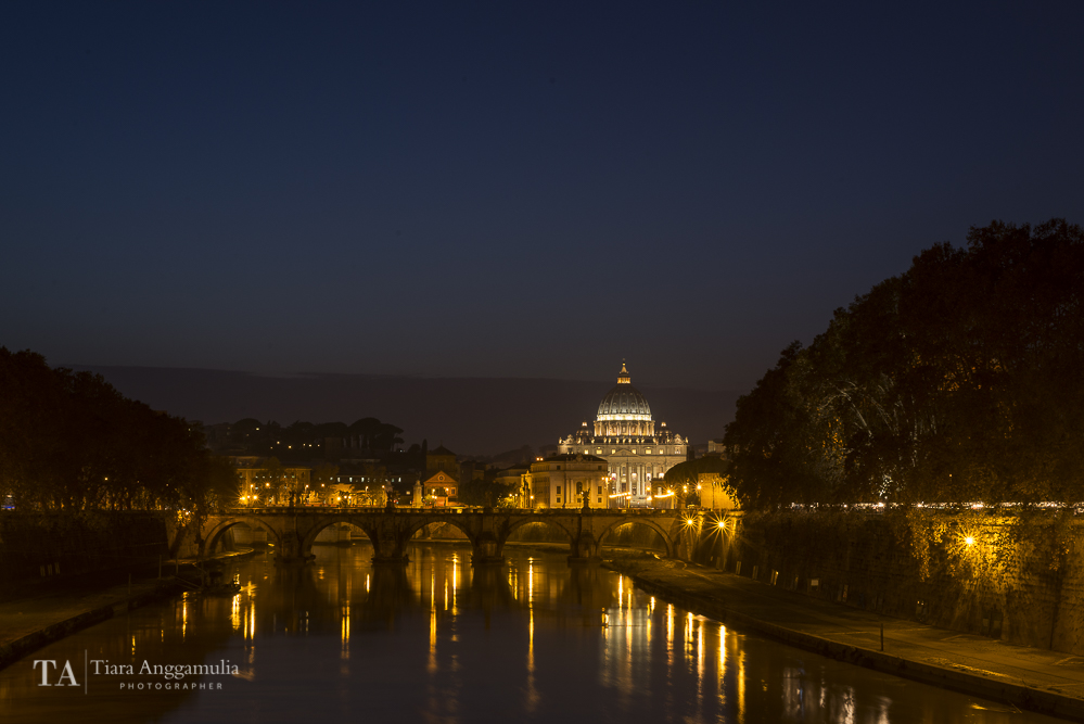 A view towards St Peter's basilica.