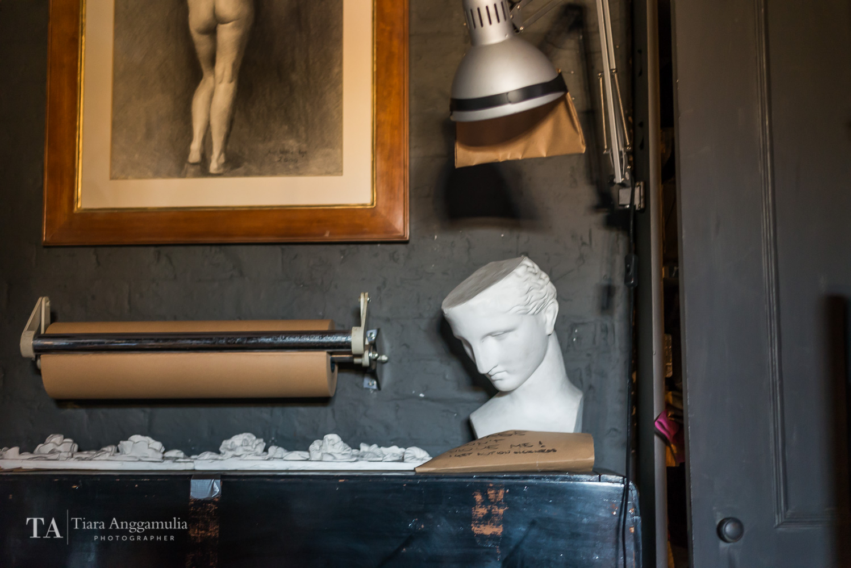 Art objects in Lavender business studio.