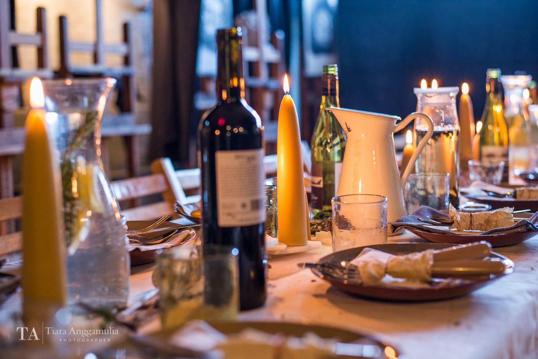 Dinner table at Kinfolk gathering dinner.