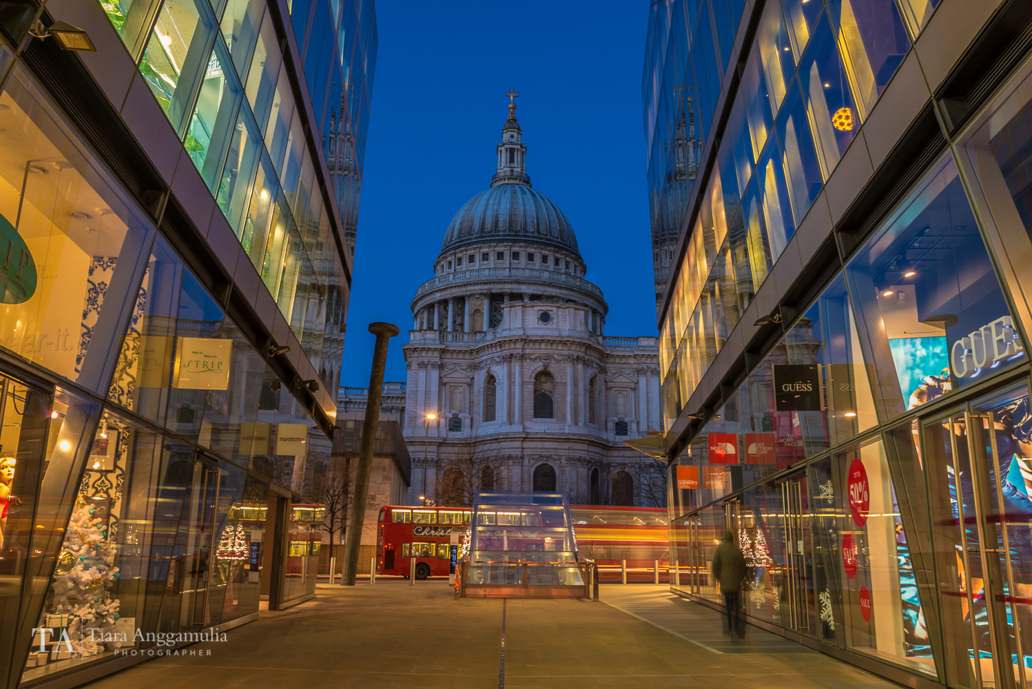 A view towards St Paul's Cathedral.