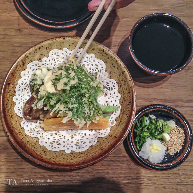 Vegetable and fish tempura at Koya.